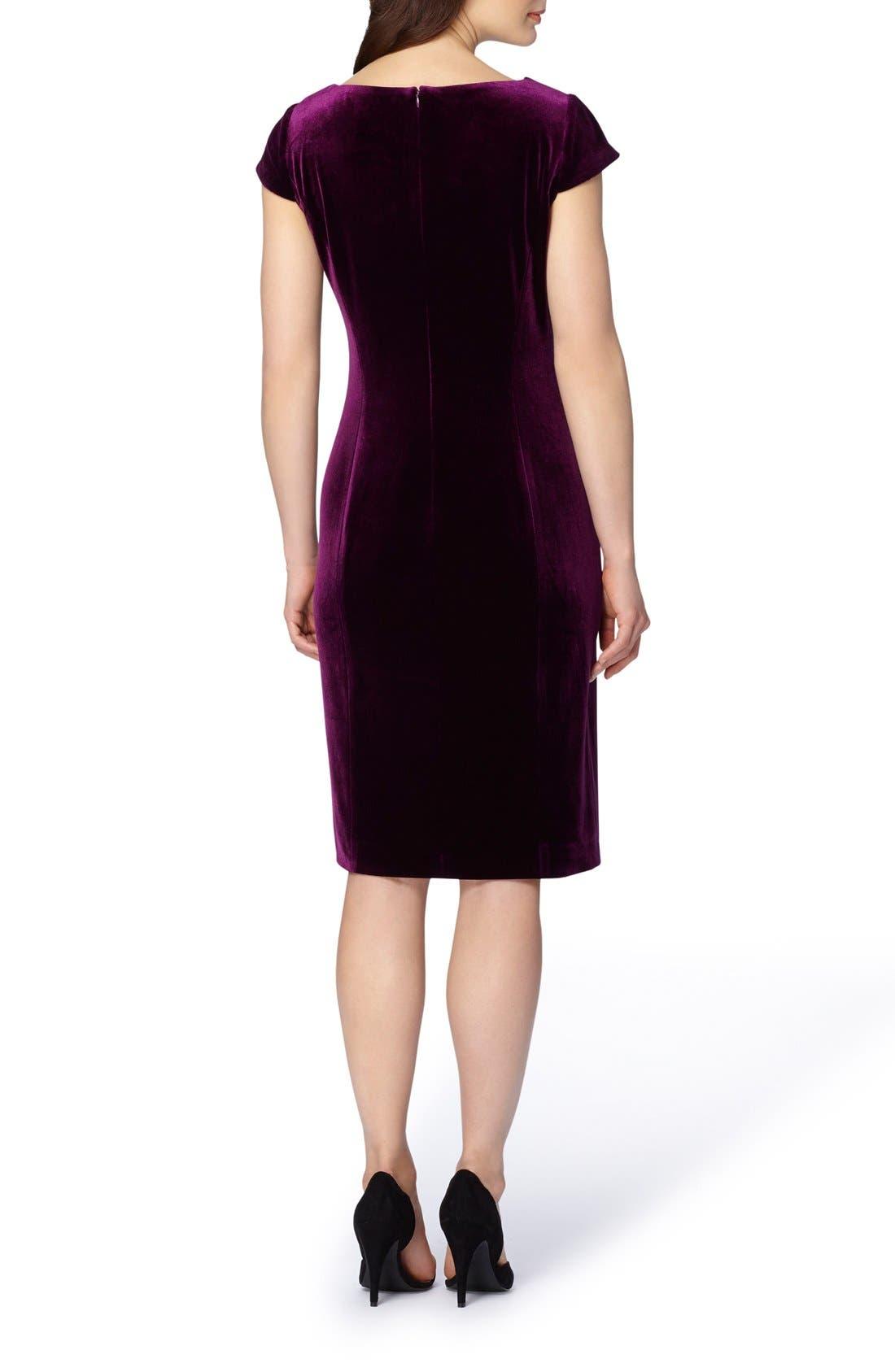 Alternate Image 2  - Tahari Velvet Sheath Dress