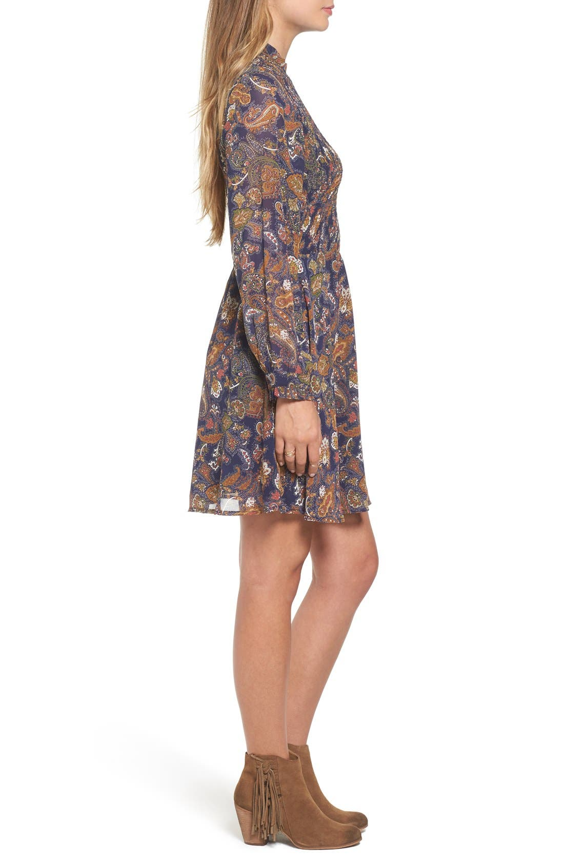 Alternate Image 3  - Sun & Shadow Paisley Smocked Dress