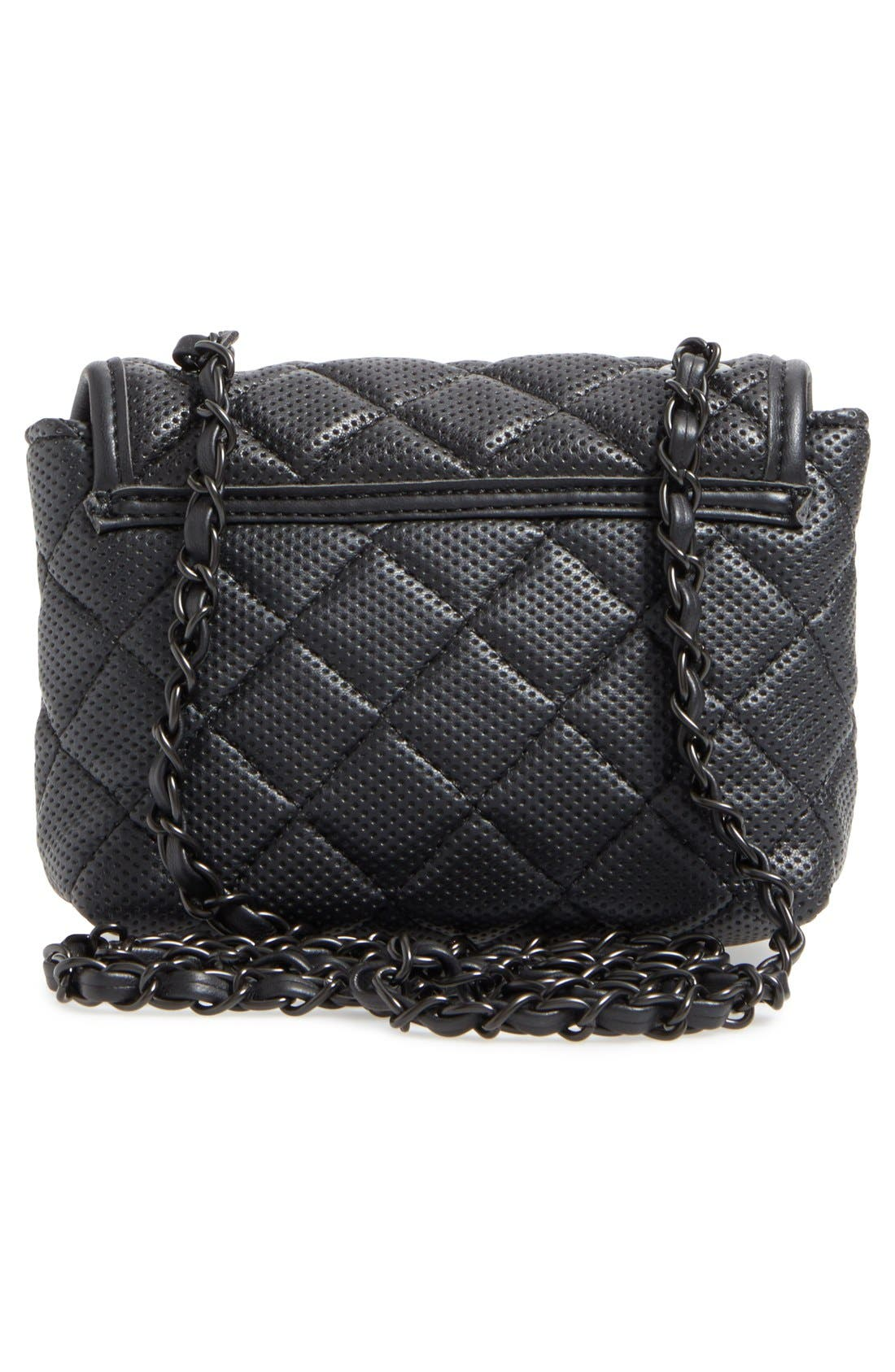 Alternate Image 2  - Steve Madden 'B Clarre' Perforated & Quilted Faux Leather Crossbody Bag