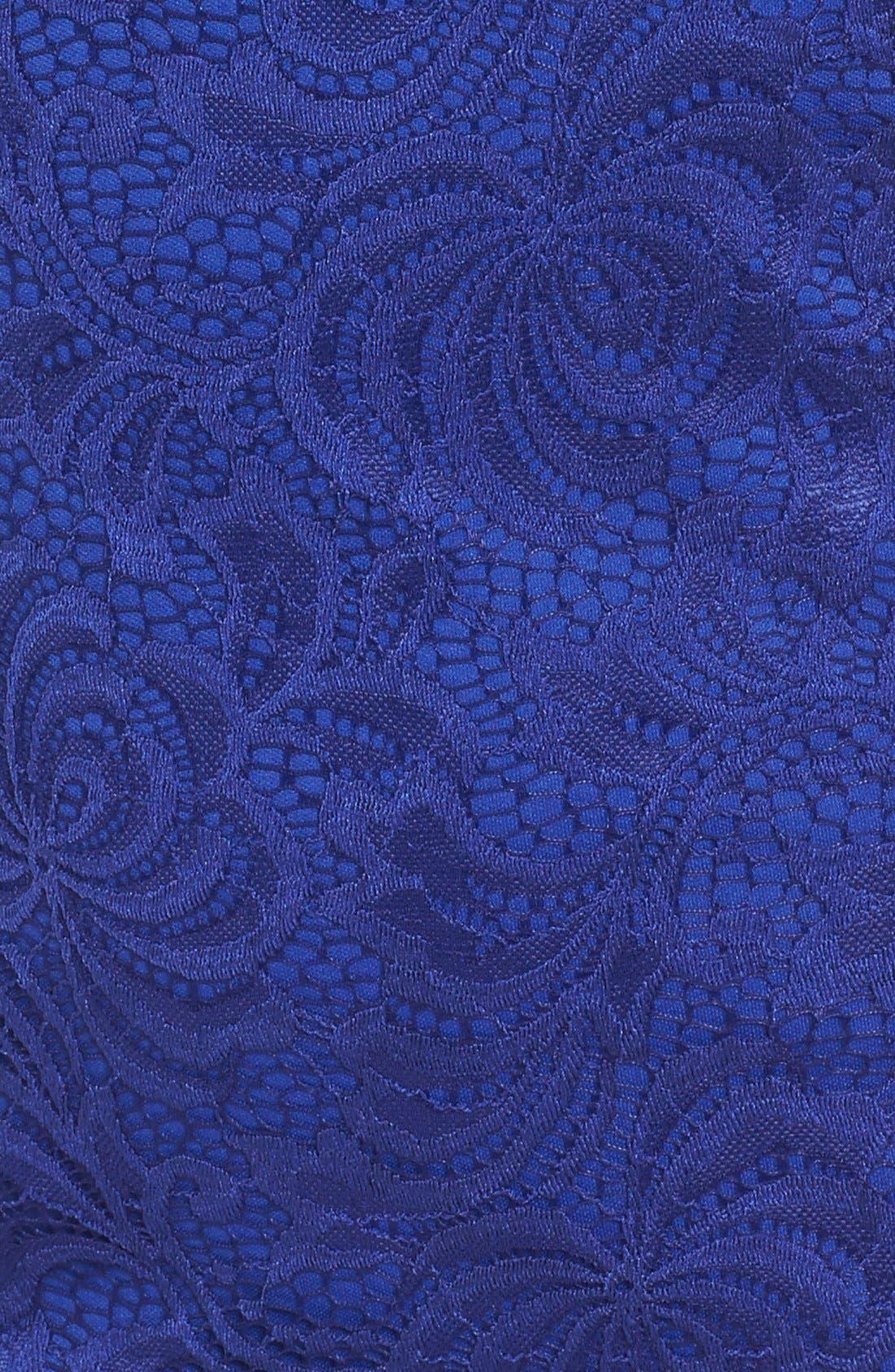 Alternate Image 5  - Secret Charm Bateau Neck Lace Body-Con Dress