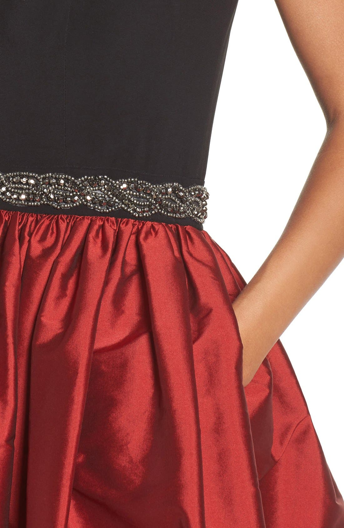 Alternate Image 4  - Alex Evenings Beaded Woven Fit & Flare Gown