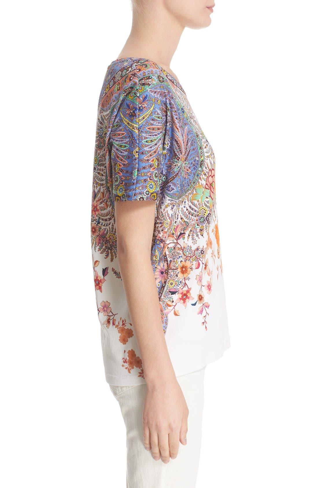 Alternate Image 5  - Etro Floral & Paisley Print Cotton Tee