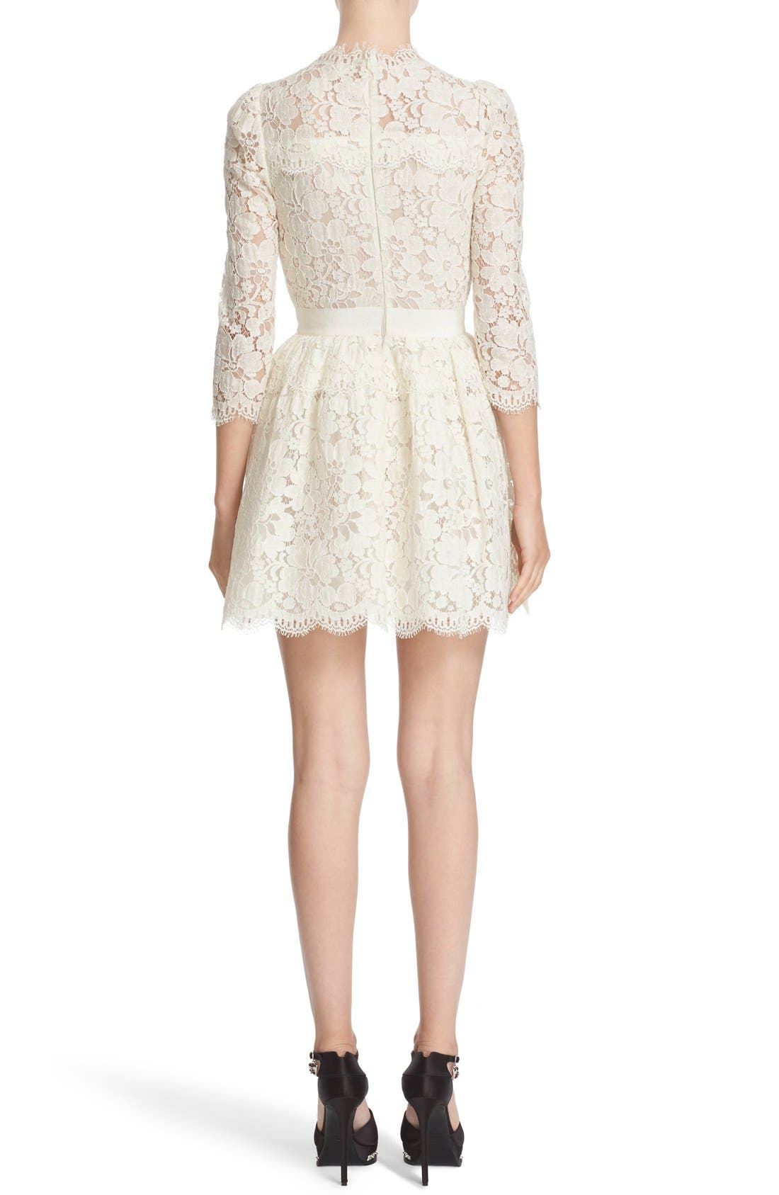 Alternate Image 2  - Alexander McQueen Floral Lace Dress