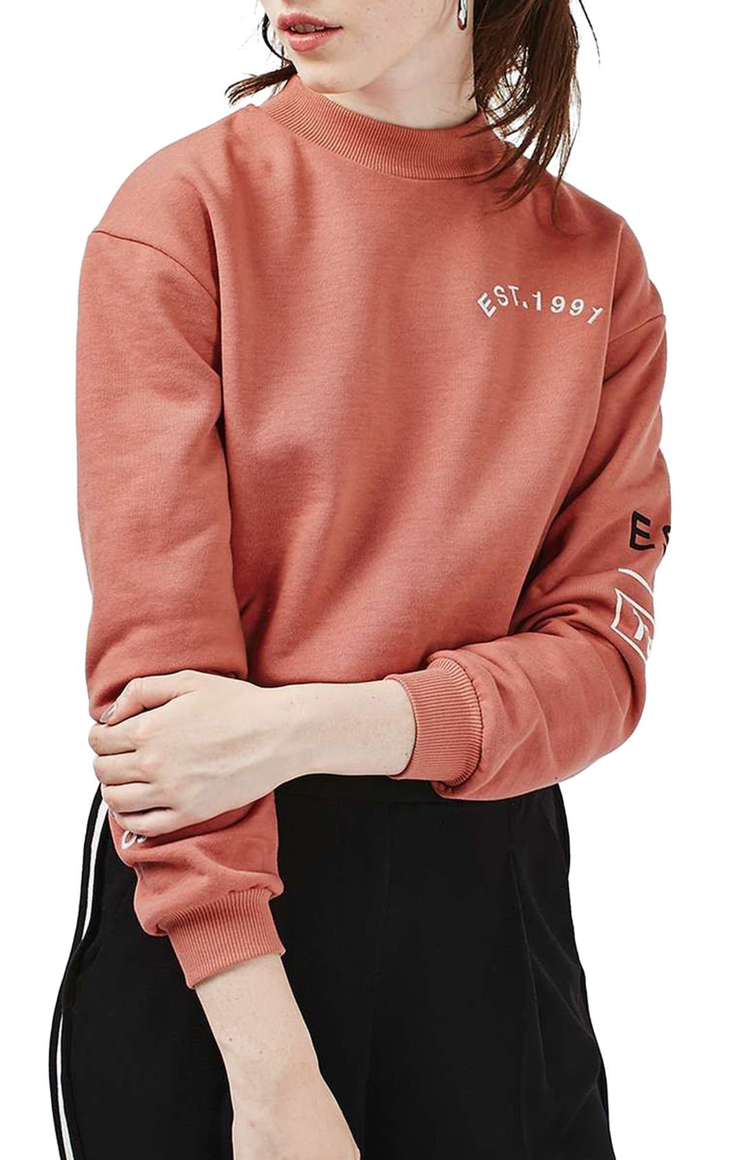 Main Image - Topshop The End Sweatshirt