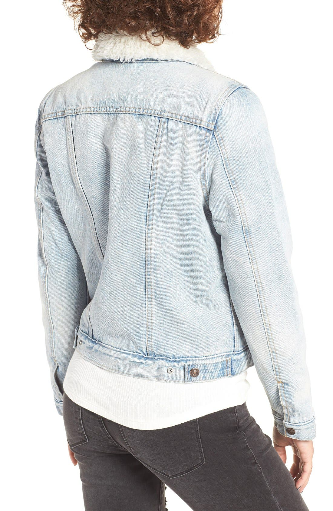 Alternate Image 2  - Levi's® Trucker Jacket with Faux Fur Trim (East Alley)