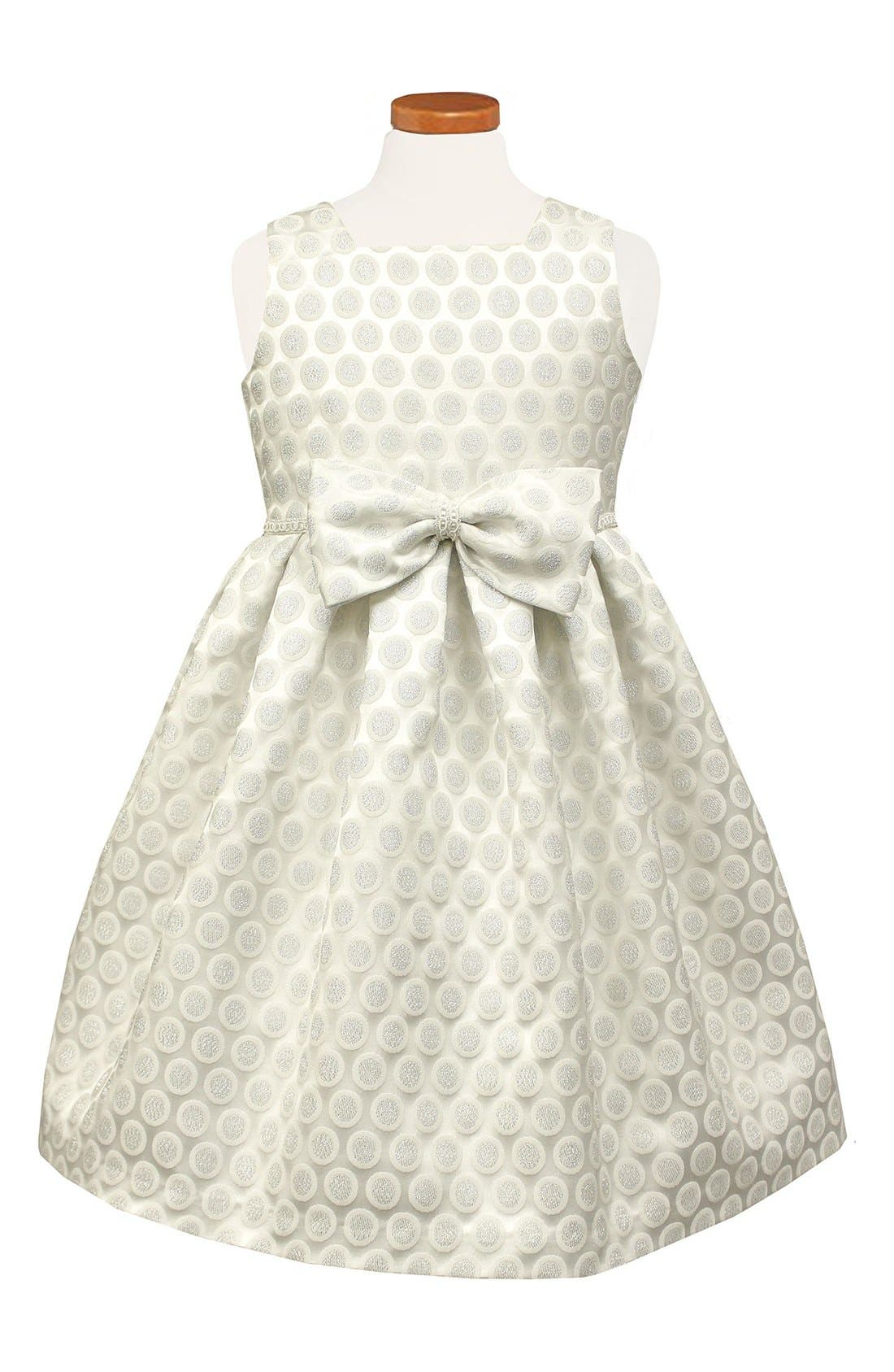 SORBET Dot Metallic Brocade Dress