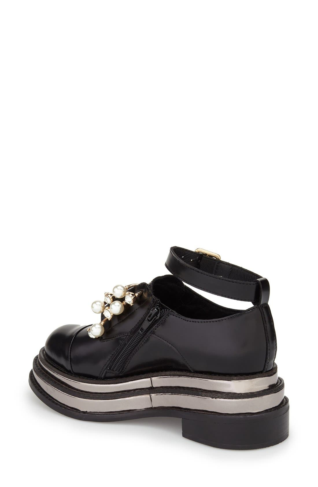 Alternate Image 2  - Jeffrey Campbell 'Jagged' Crystal Embellished No-Lace Platform Oxford (Women)