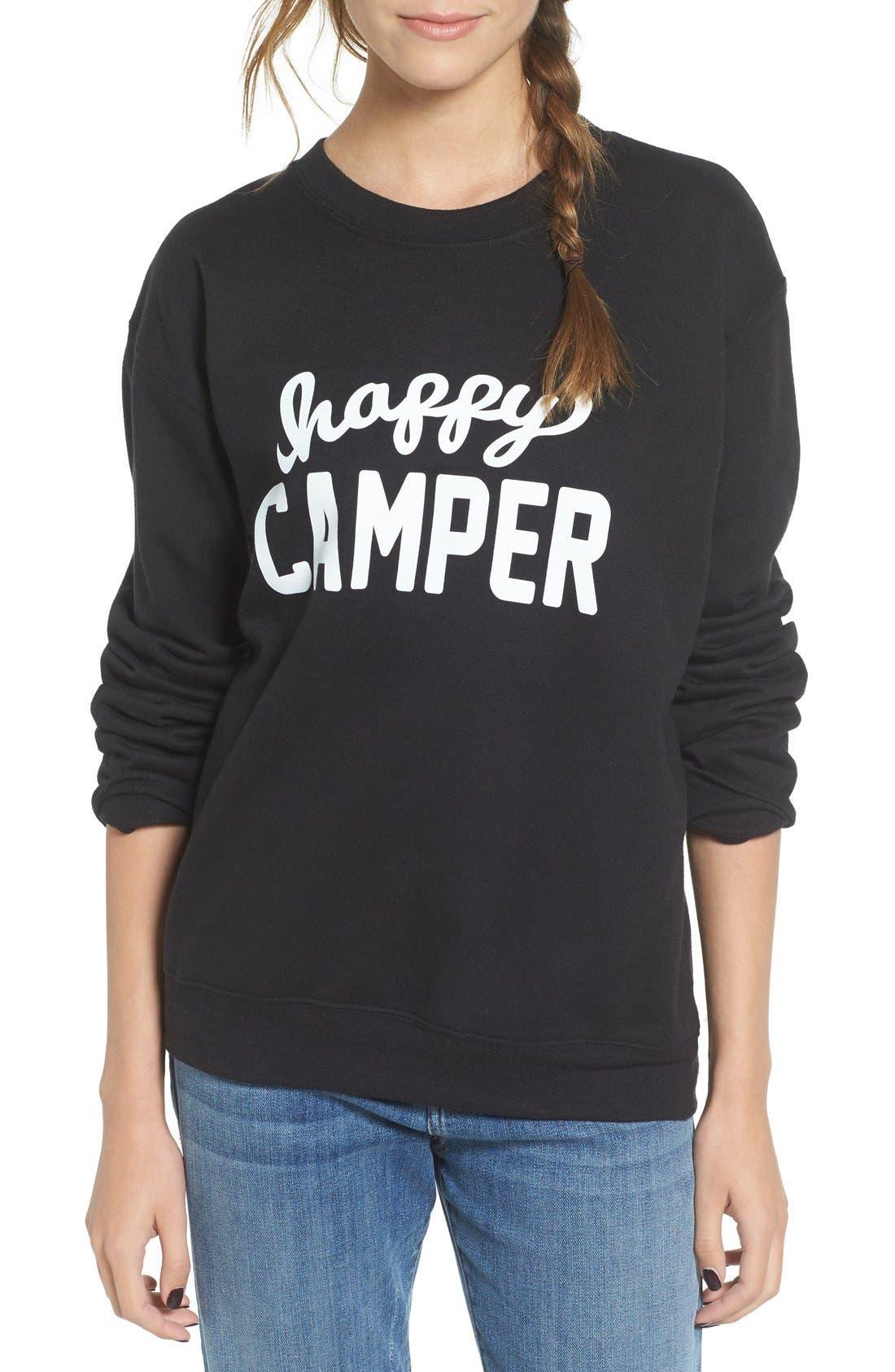 Main Image - Sub_Urban Riot 'Happy Camper' Graphic Sweatshirt