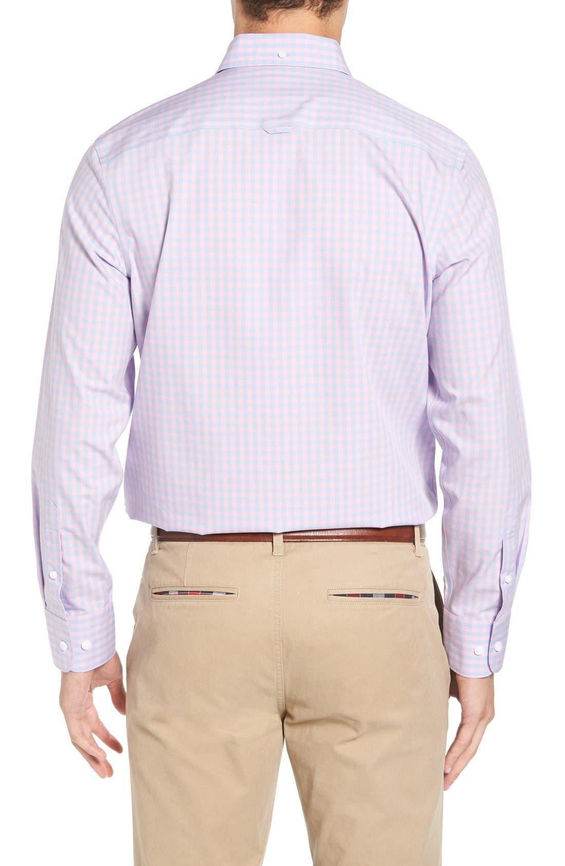 Alternate Image 2  - Nordstrom Men's Shop Smartcare™ Regular Fit Check Sport Shirt (Tall)