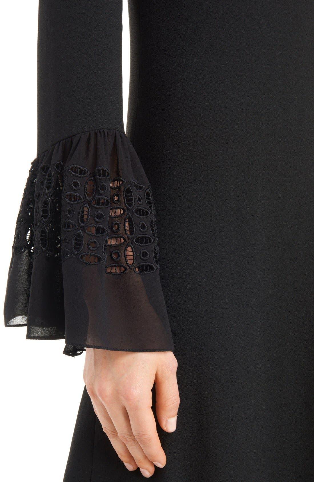 Alternate Image 6  - Saint Laurent Lace Flutter Sleeve Babydoll Dress