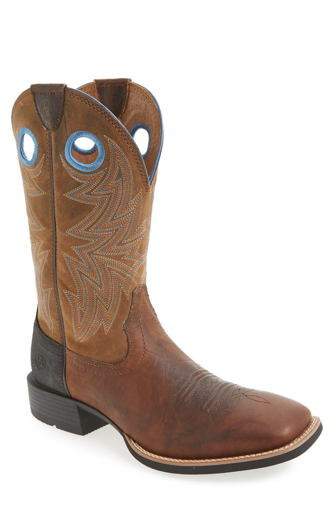 Ariat 'Heritage Cowhorse' Square Toe Cowboy Boot (Men)