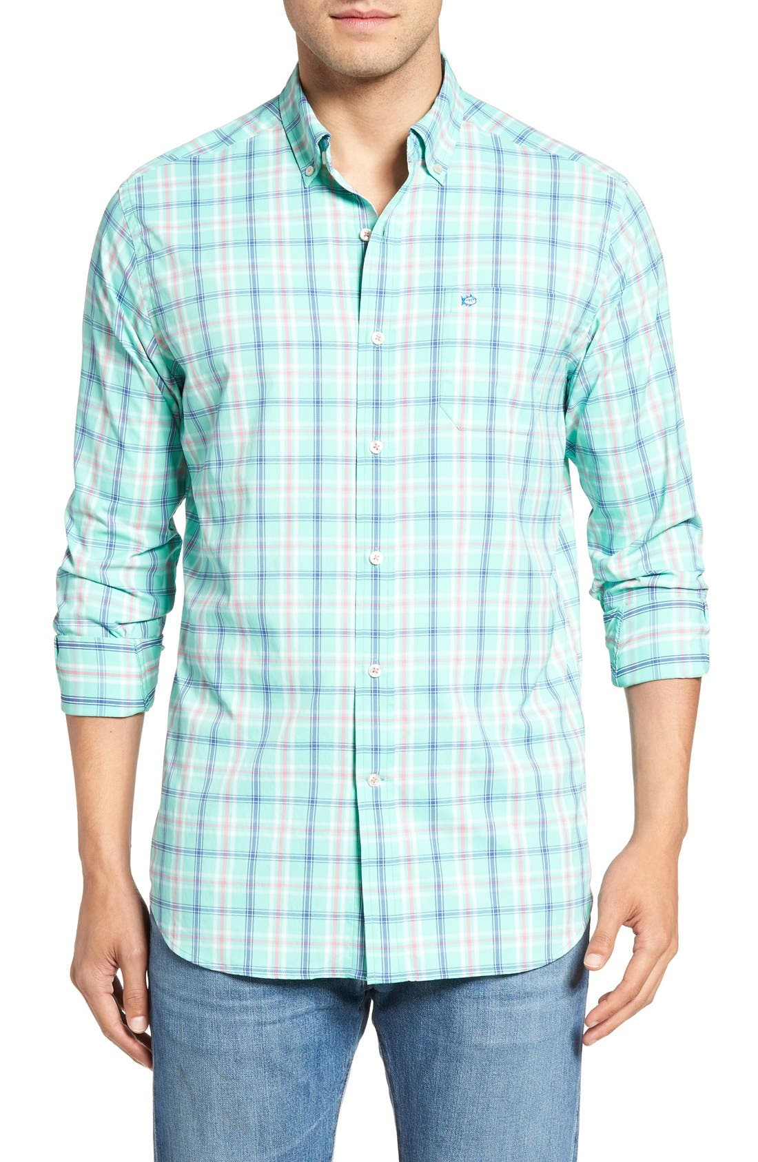 SOUTHERN TIDE Barrier Reef Classic Fit Plaid Sport