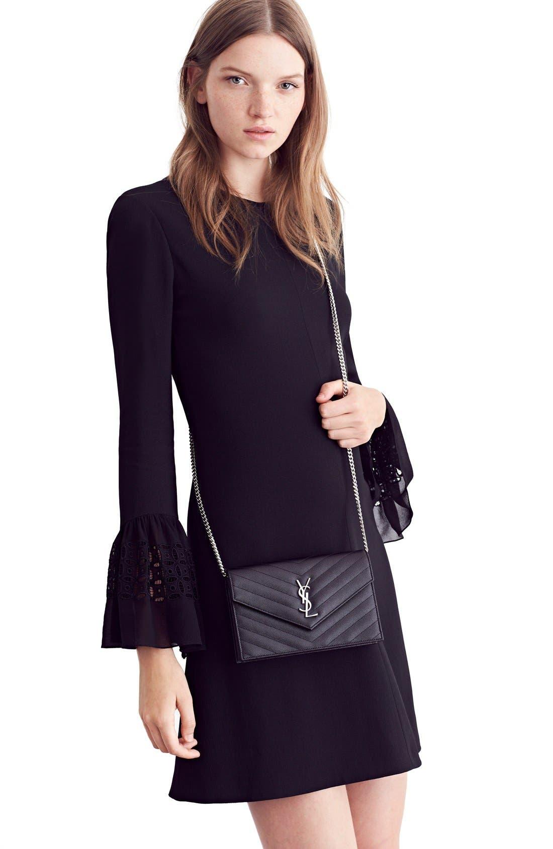 Alternate Image 8  - Saint Laurent Lace Flutter Sleeve Babydoll Dress