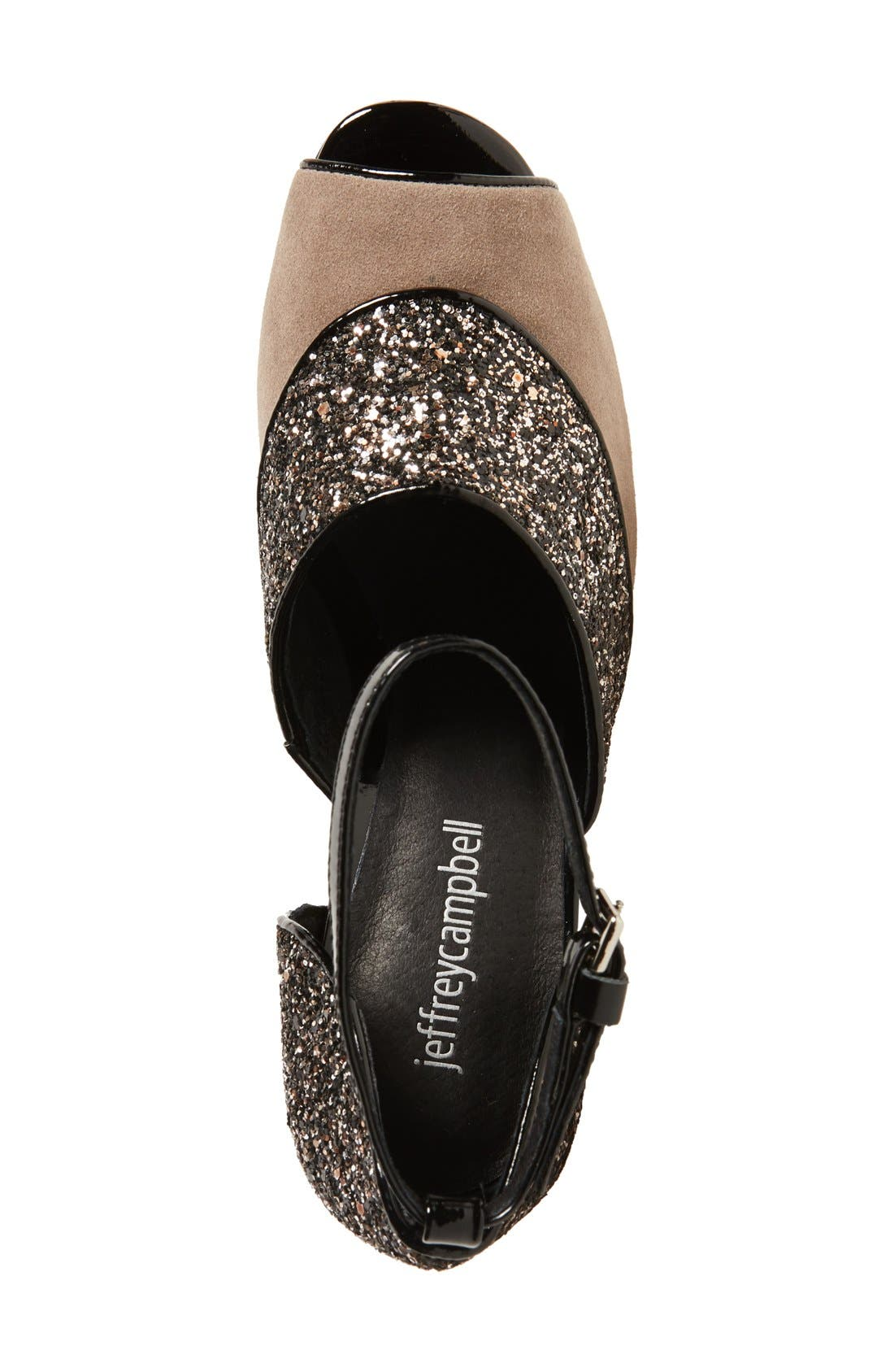 Alternate Image 3  - Jeffrey Campbell 'Bibana' Glitter Sandal (Women)