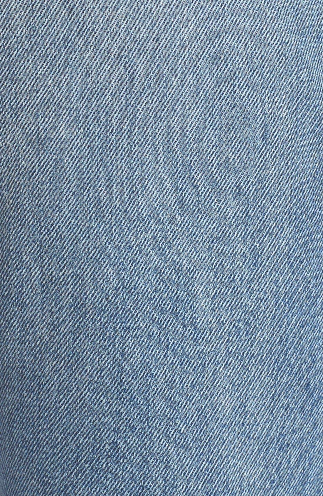 Alternate Image 5  - Vince Vintage Straight Leg Crop Jeans (Calico)