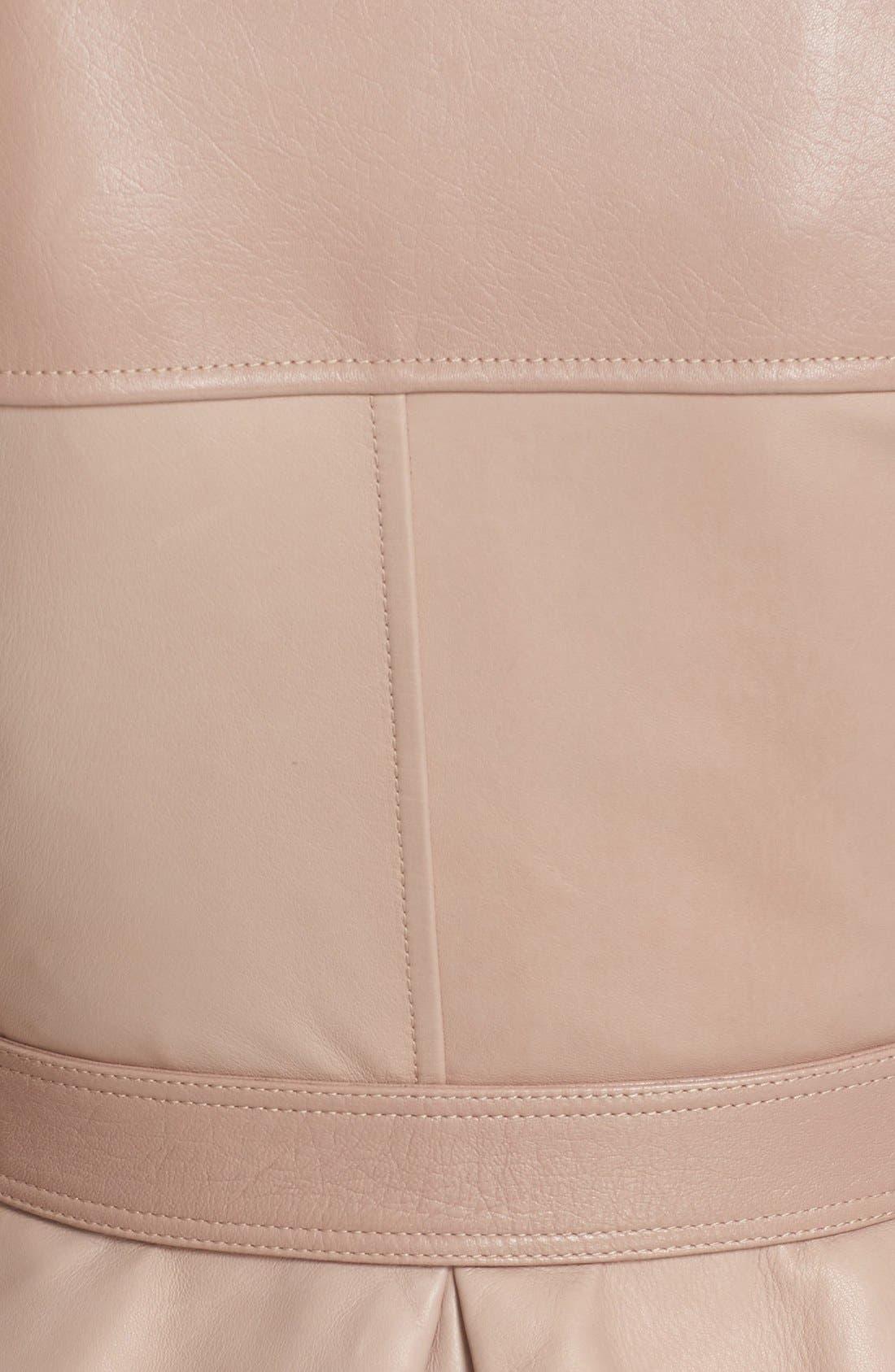 Alternate Image 3  - Alexander McQueen Crop Lambskin Leather Jacket