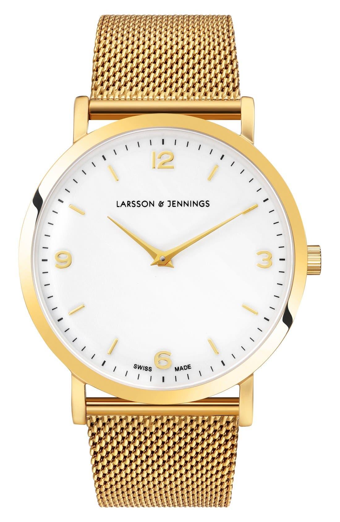 Larsson & Jennings Lugano Mesh Strap Watch, 38mm