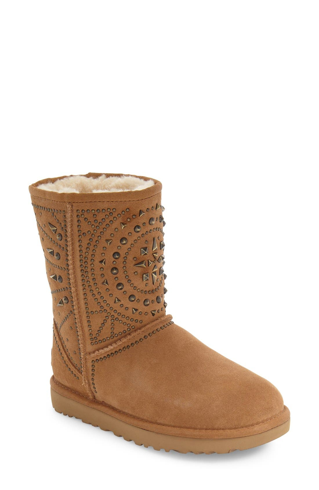 Alternate Image 1 Selected - UGG® Fiore Deco Studs Boot (Women)