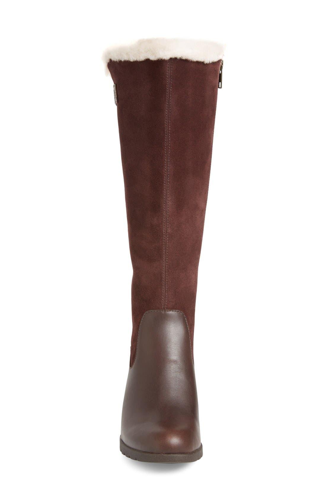 Alternate Image 3  - UGG® Mischa Waterproof Wedge Boot (Women)