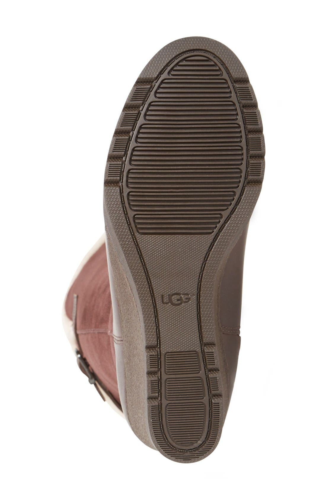 Alternate Image 4  - UGG® Mischa Waterproof Wedge Boot (Women)