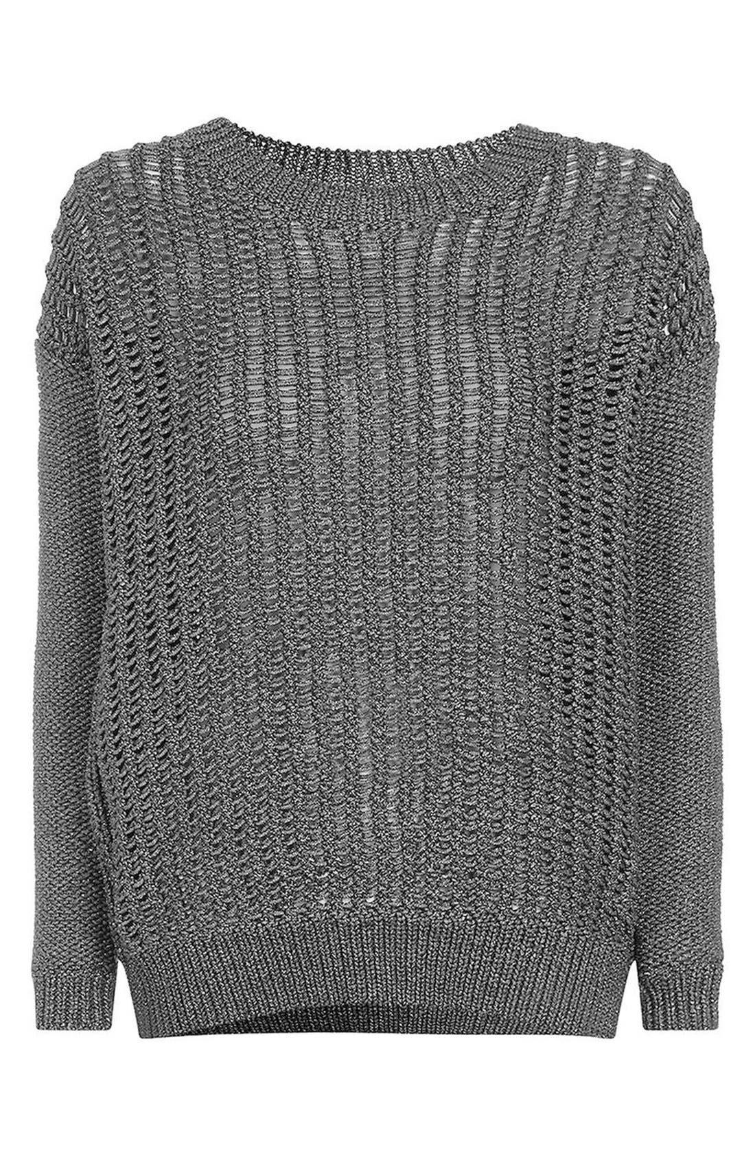 Alternate Image 1 Selected - Topshop Metallic Sweater