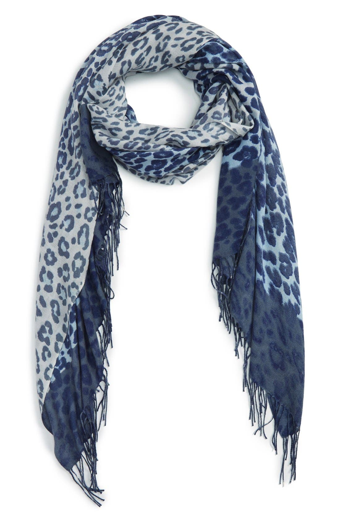Alternate Image 1 Selected - Nordstrom Animal Print Wool & Cashmere Wrap
