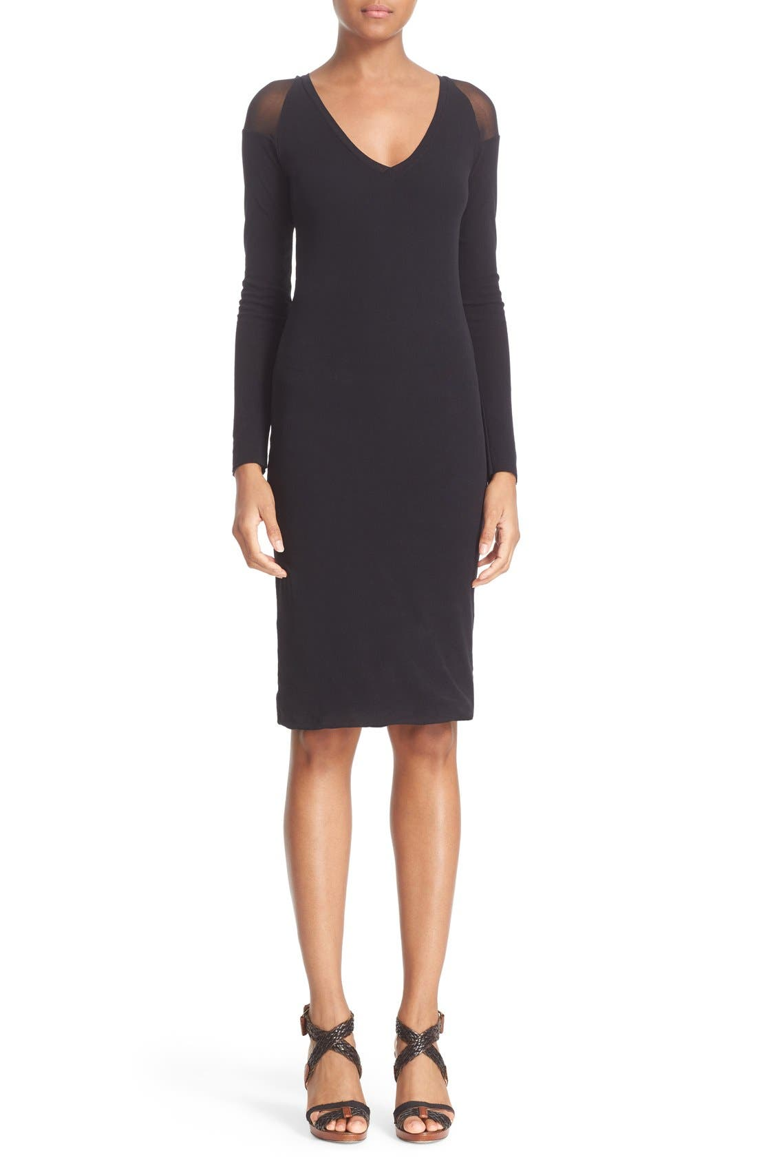 Alternate Image 1  - Fuzzi Illusion Cold Shoulder Sheath Dress