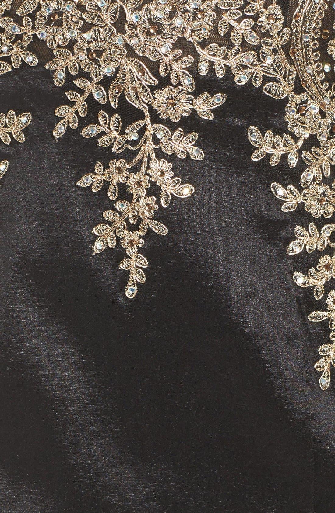 Alternate Image 5  - Xscape Embellished Taffeta Gown (Regular & Petite)