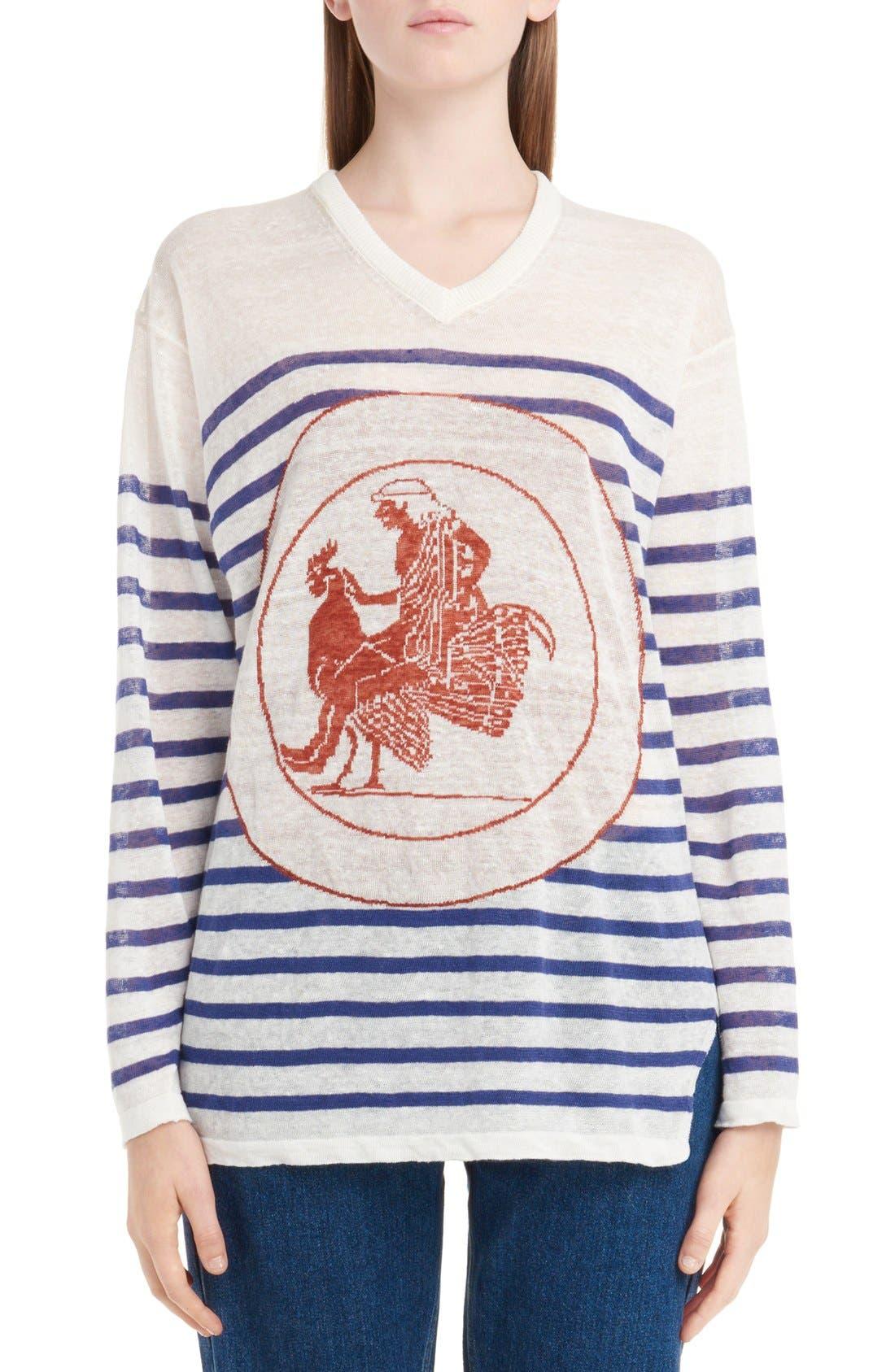 LOEWE Stripe Linen Sweater