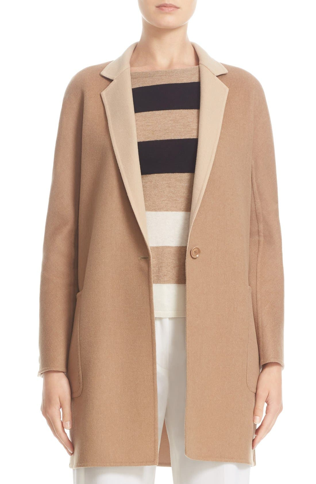 MAX MARA Lillo Wool & Cashmere Bicolor Coat