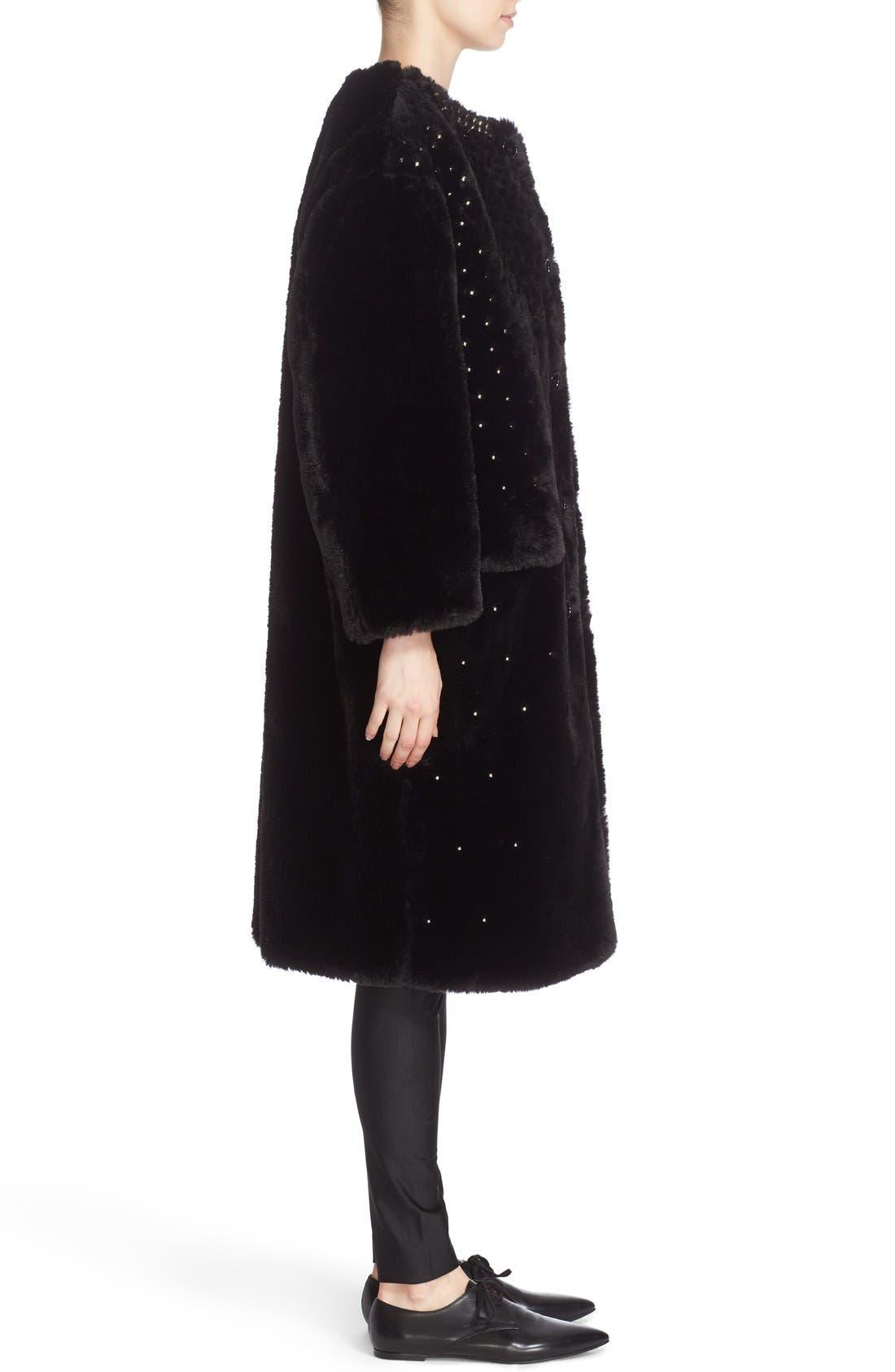 Alternate Image 5  - noir kei ninomiya Studded Faux Fur Coat