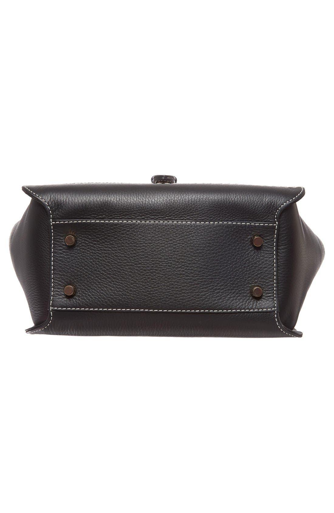 Alternate Image 5  - Burberry Medium Harcourt Check & Leather Tote