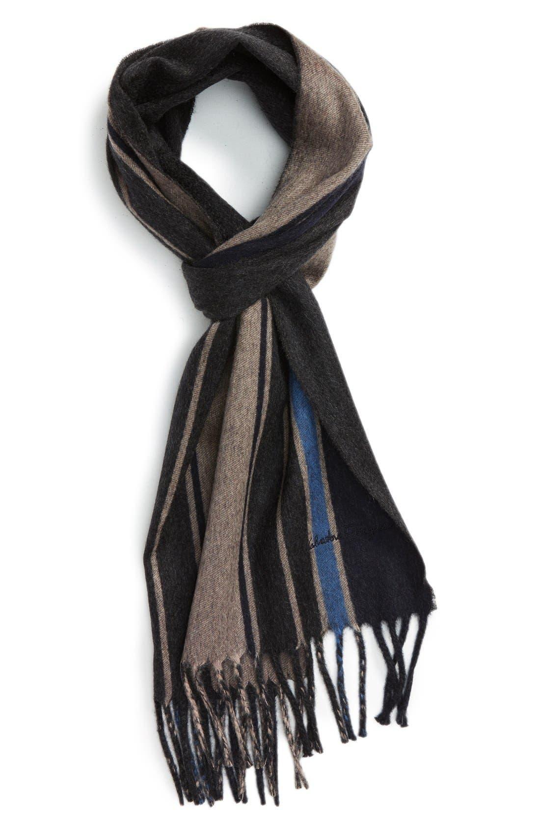 salvatore ferragamo stripe scarf nordstrom