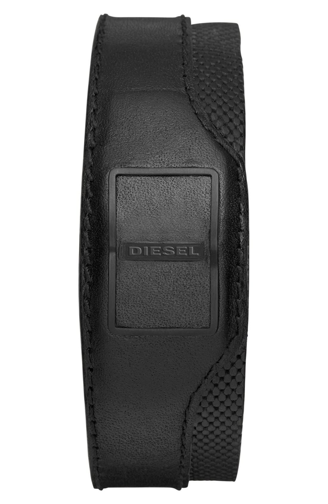 DIESEL® Leather Cuff Activity Tracker