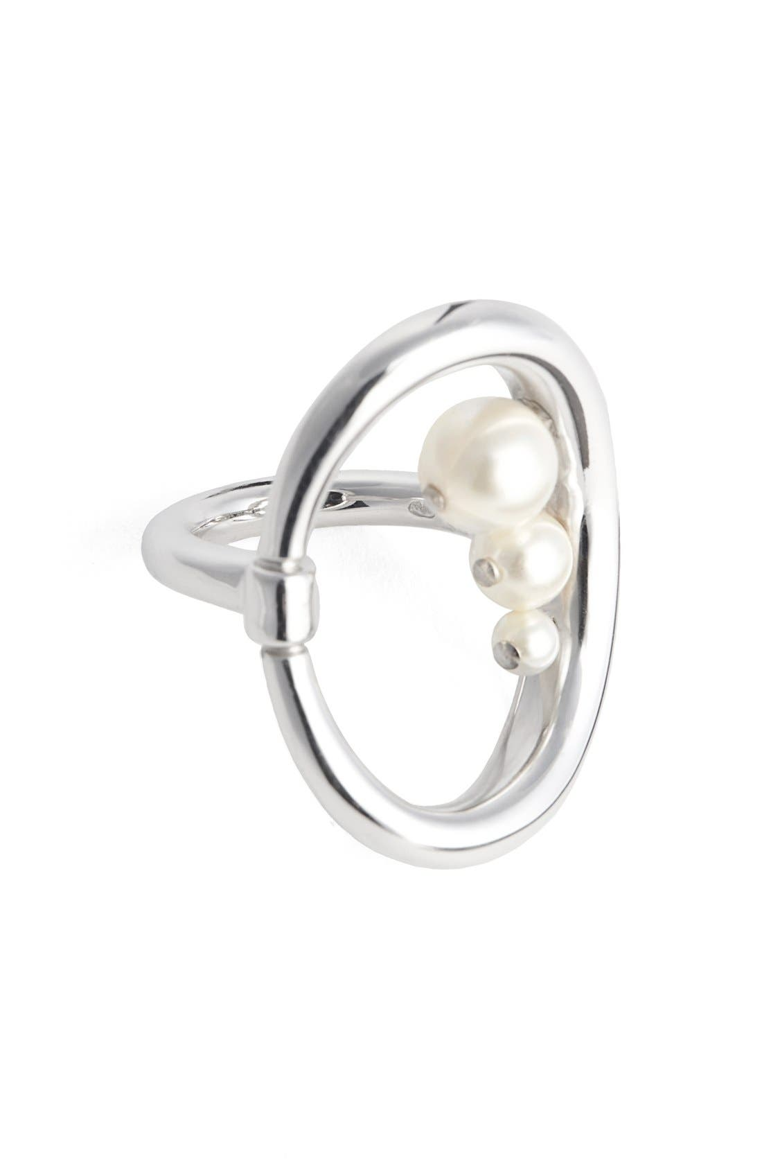 CHARLOTTE CHESNAIS Synthetic Pearl Turtle Ring