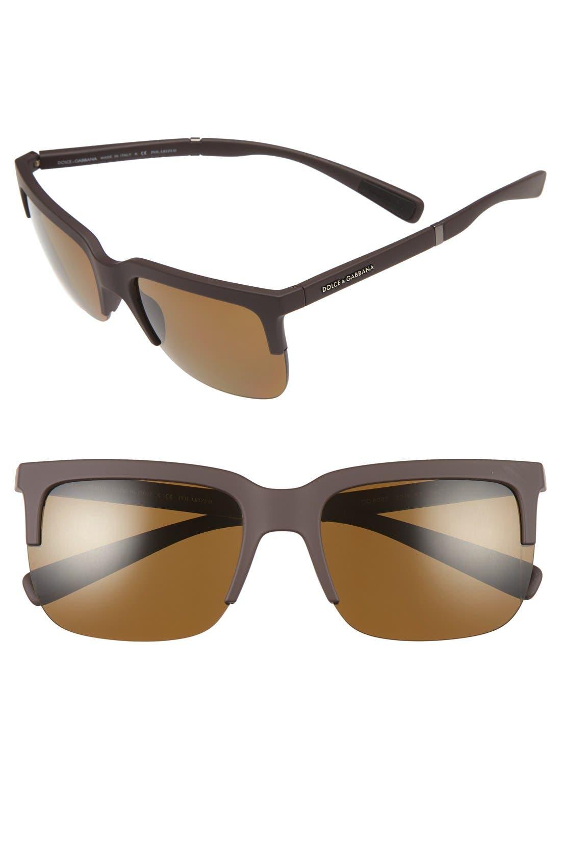 Dolce&Gabbana 58mm Polarized Sunglasses