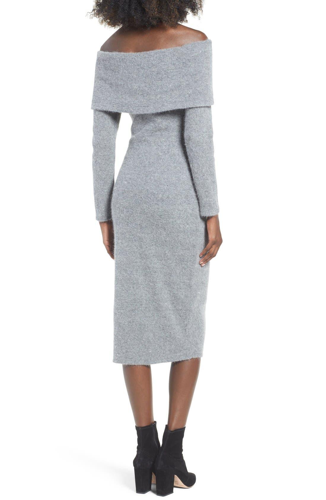 Alternate Image 2  - J.O.A. Off the Shoulder Sweater Dress