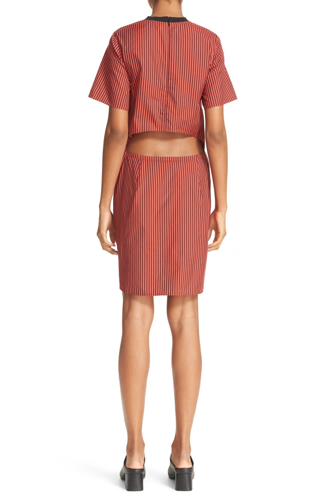Alternate Image 2  - 3.1 Phillip Lim Stripe Poplin Tie Waist Shirtdress