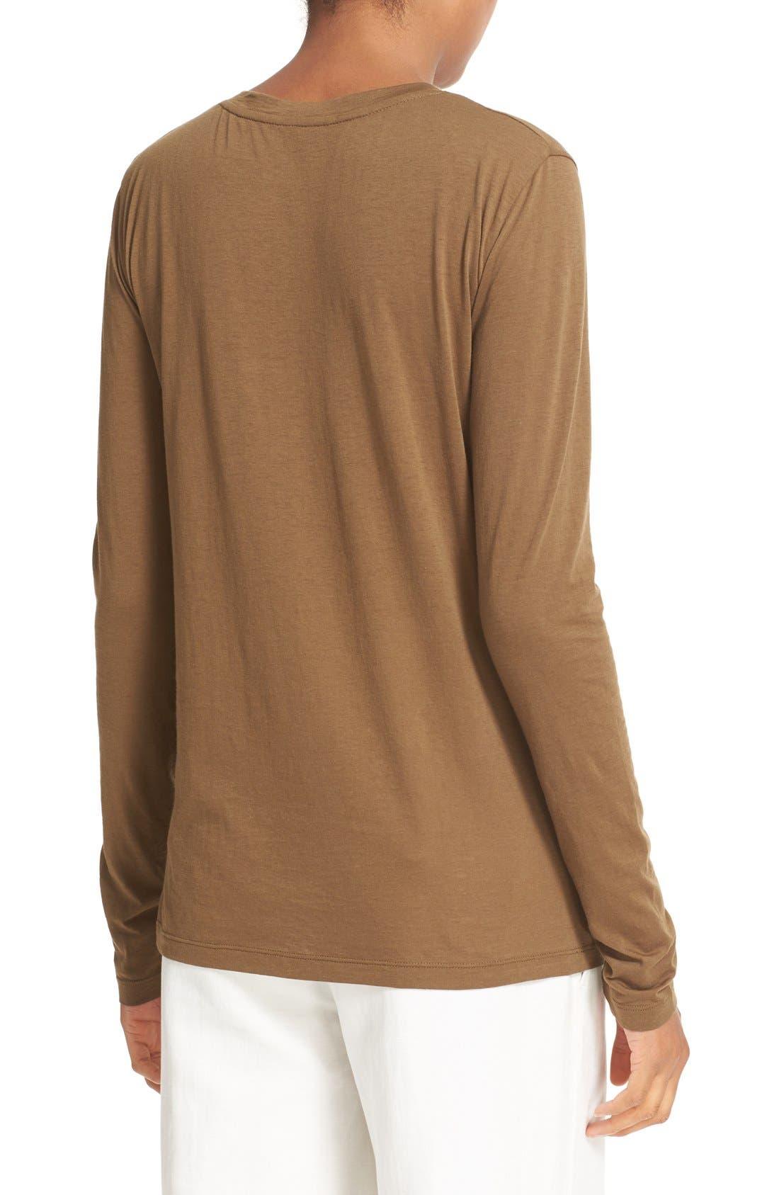 Alternate Image 2  - Vince Cotton & Cashmere Crewneck Sweater