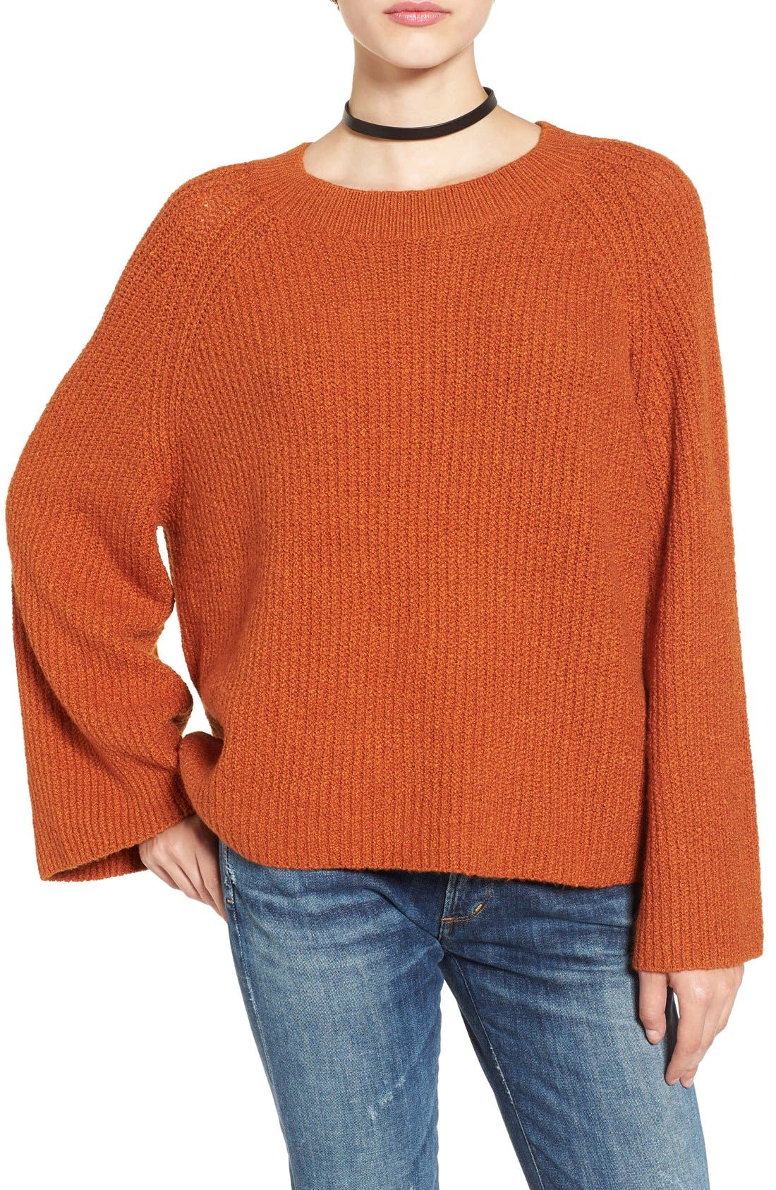 Alternate Image 1 Selected - BP. Knit Bell Sleeve Pullover