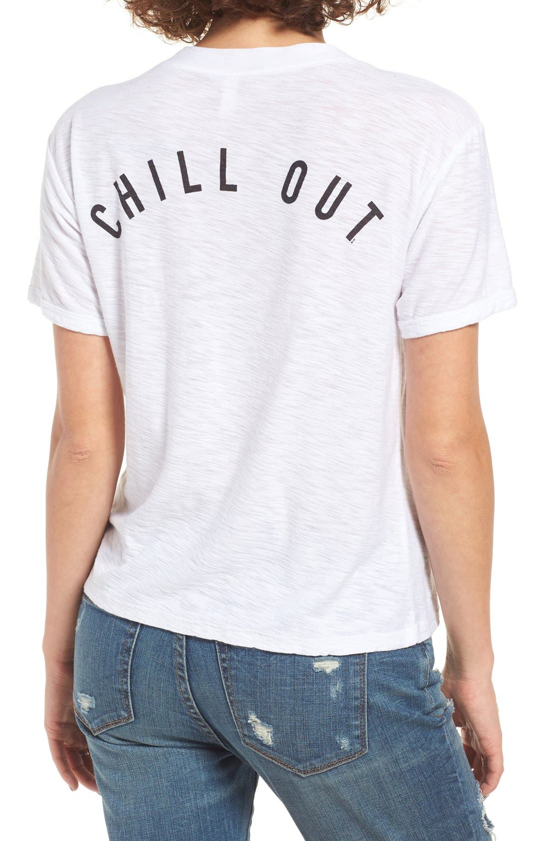 Alternate Image 1 Selected - Michelle by Comune Augsburg Chill Out Burnout Tee