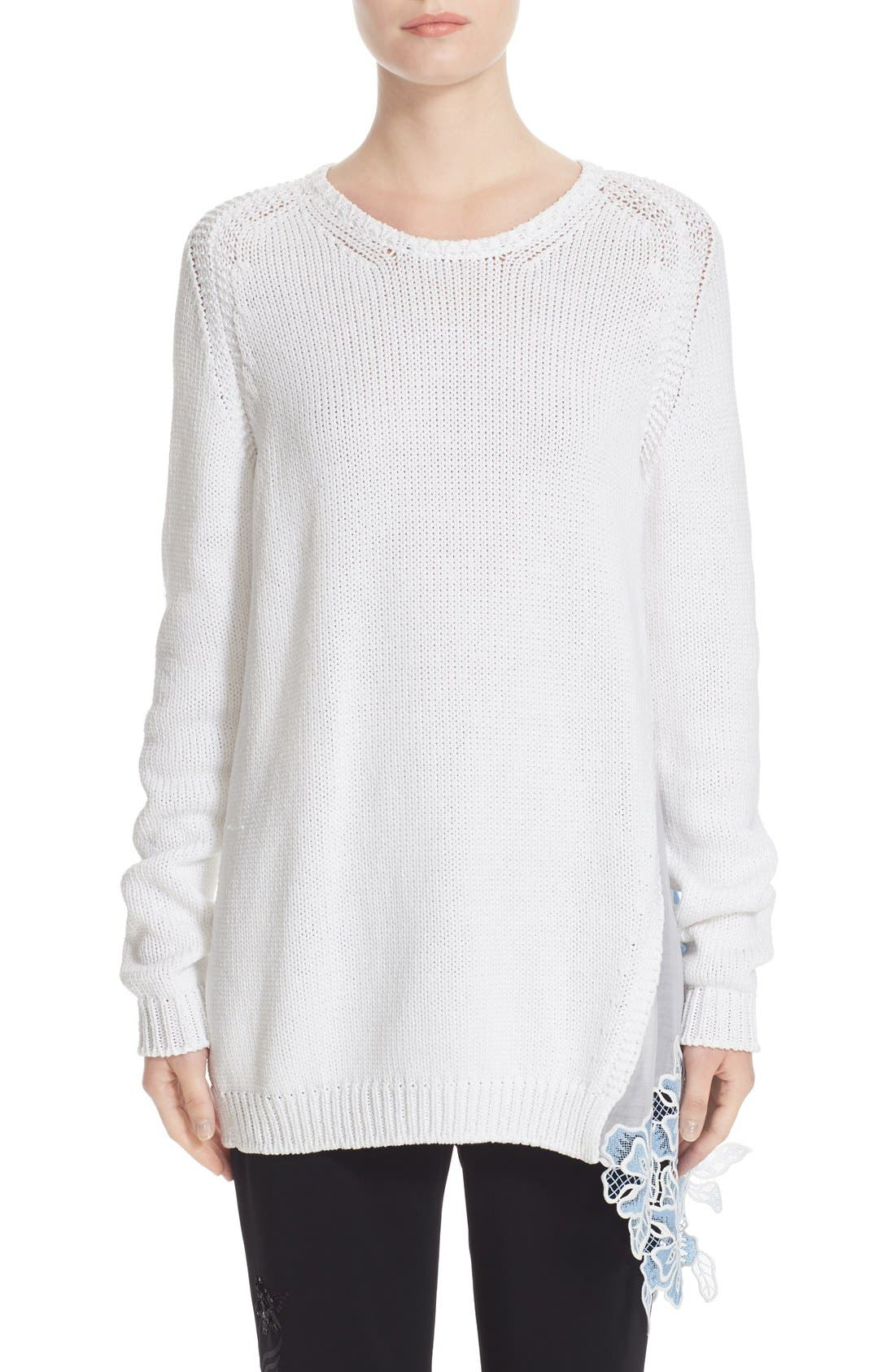 N°21 Lace Inset Knit Pullover