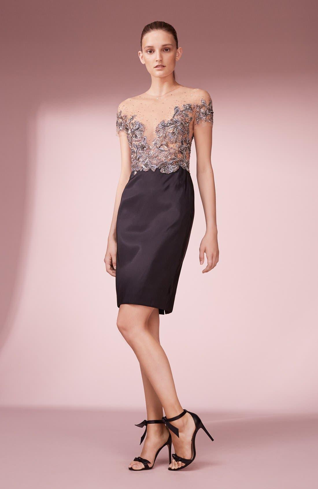 Alternate Image 6  - Marchesa Embellished Tulle Bodice Sheath Dress (Nordstrom Exclusive)