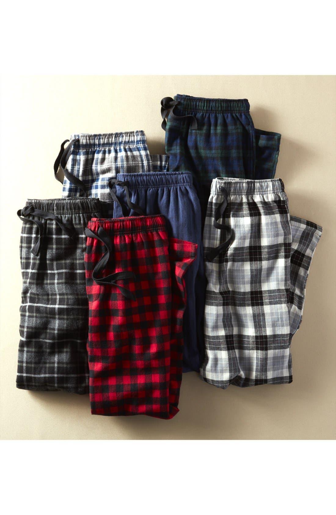 Alternate Image 6  - Nordstrom Men's Shop Flannel Lounge Pants