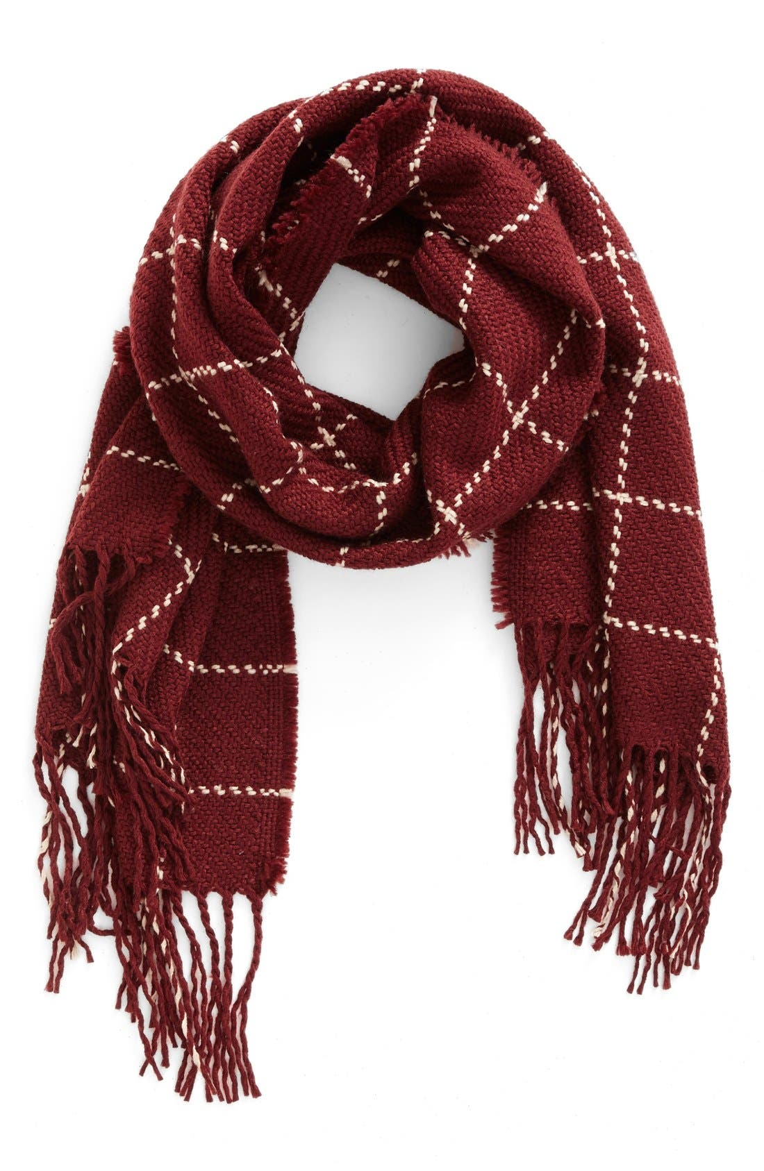 Main Image - BP. Stitched Grid Scarf