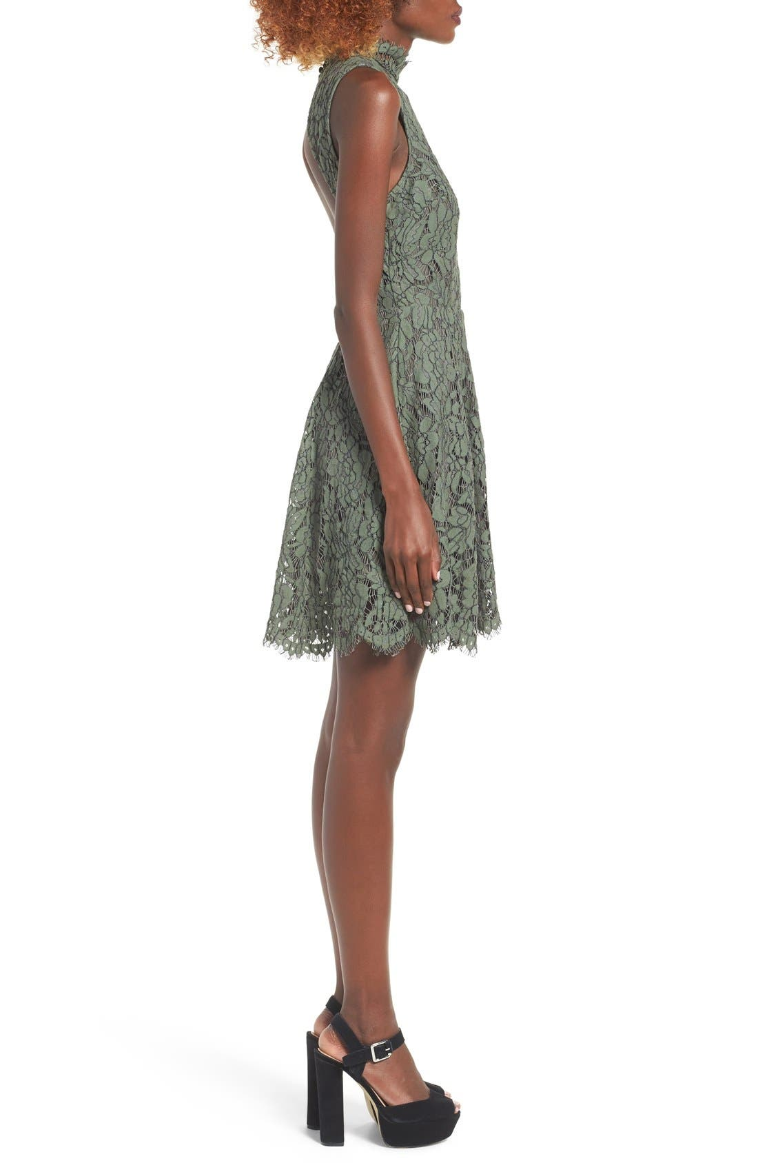 Alternate Image 4  - Keepsake the Label Porcelain Lace Fit & Flare Dress