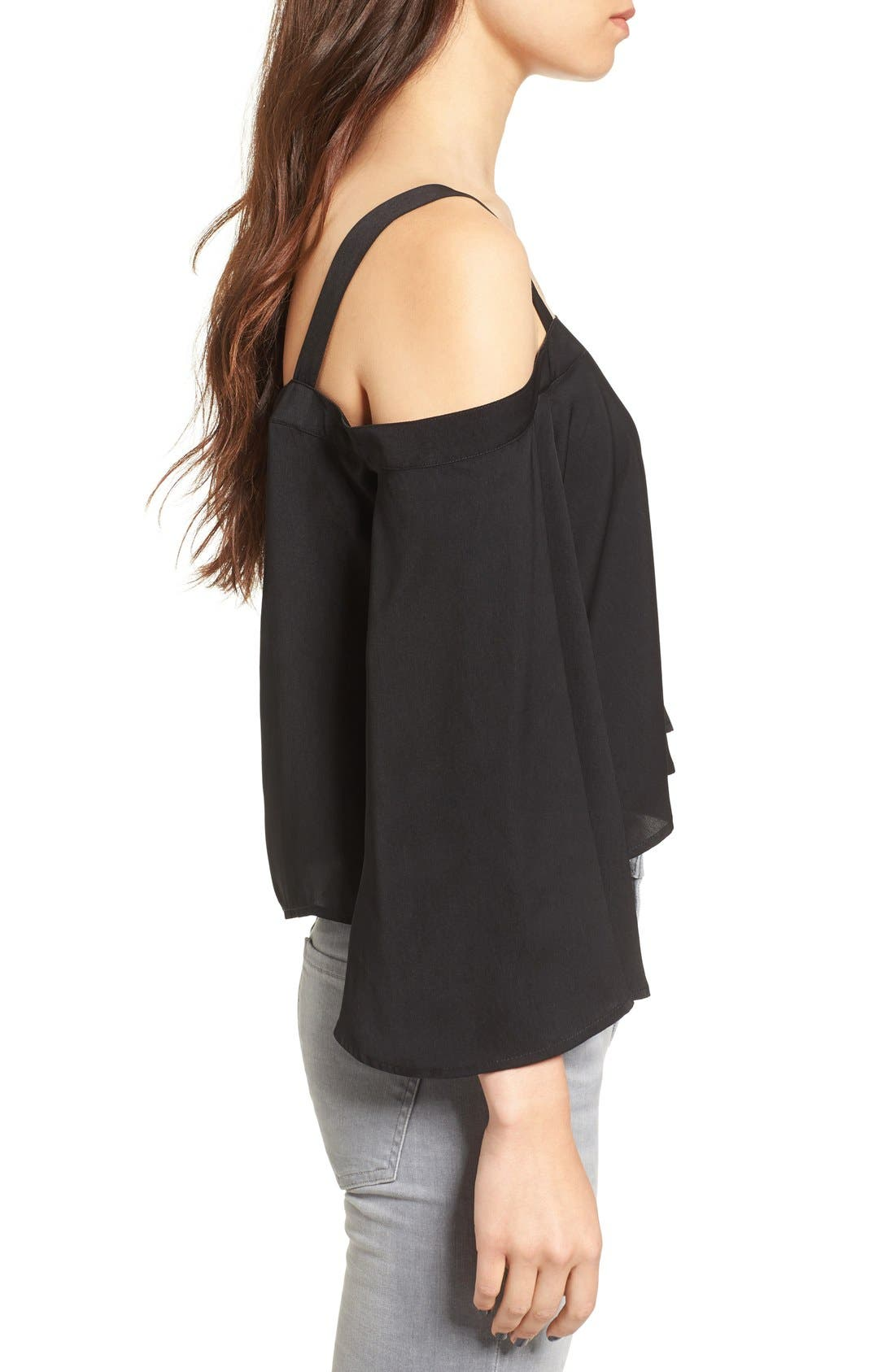 Alternate Image 4  - The Fifth Label In Full Light Cold Shoulder Top