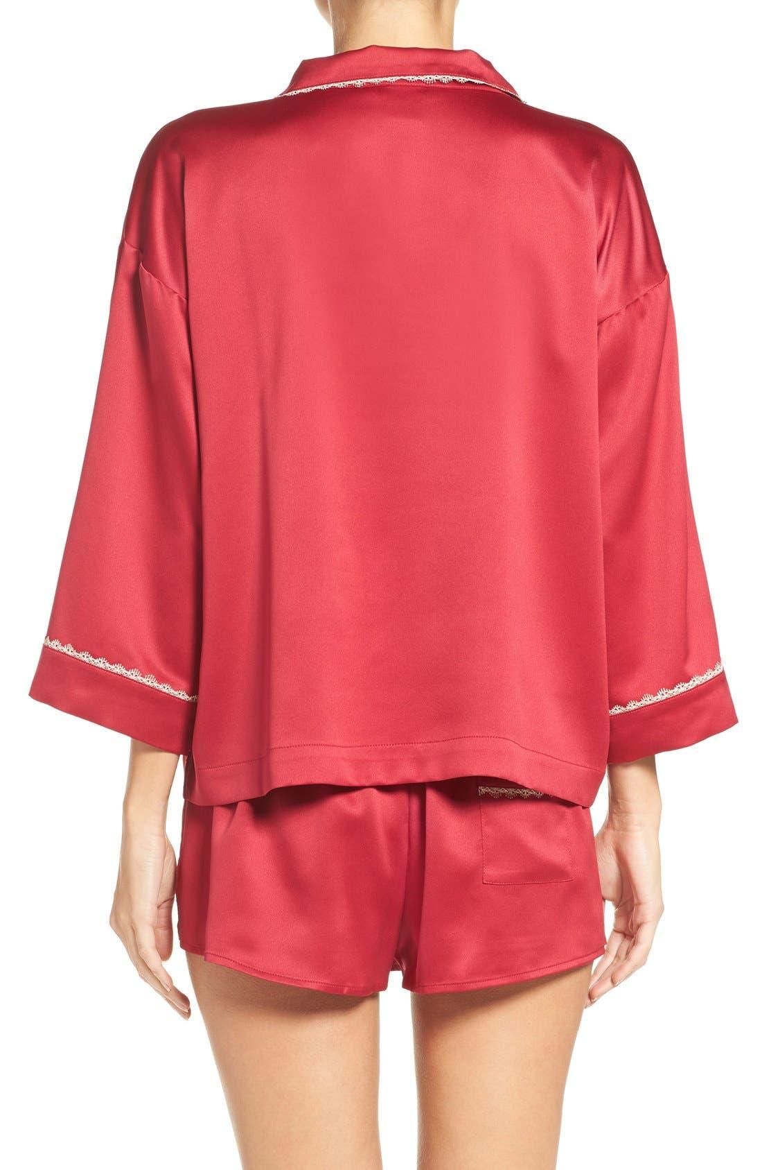 Alternate Image 2  - Flora Nikrooz Wisteria Satin Pajamas
