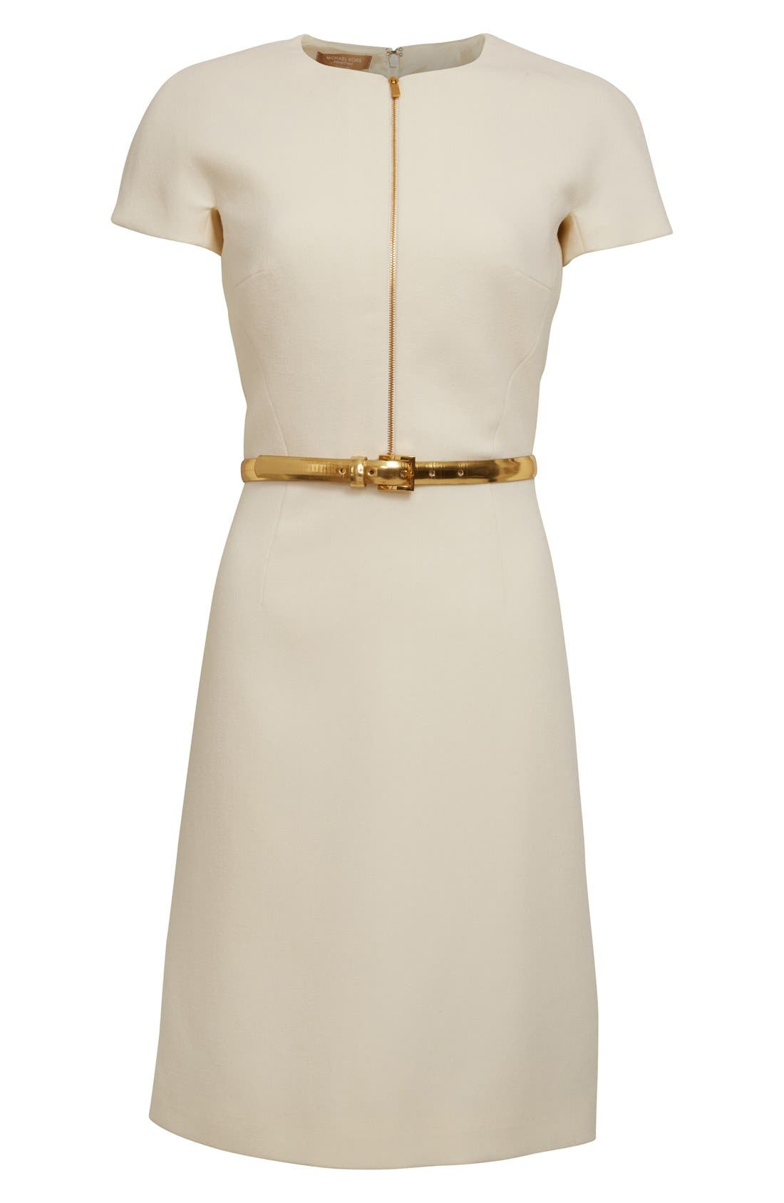 Alternate Image 4  - Michael Kors Stretch Wool Crepe Dress