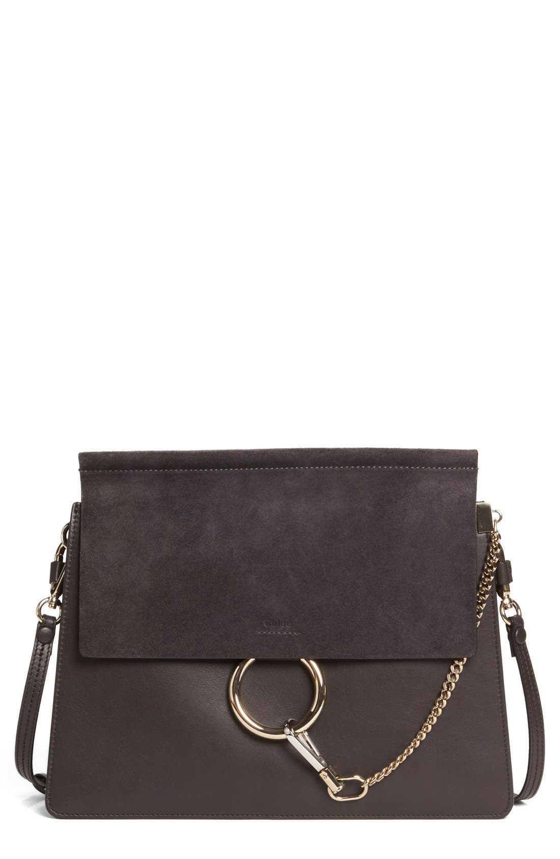 Chloé Faye Suede & Leather Shoulder Bag